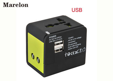 China Global Travel Power Adapter, Dual USB Travel Adapter Built In 6A Fuse Safeguard Devices for Corporate Gifts supplier