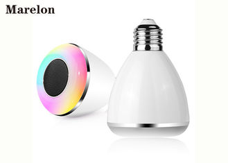 China Colorful Music Bluetooth Speaker Light Lamp Bulb With Custom Logo Printing supplier