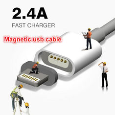 China Super Fast 2.4A Magnetic USB Data Cable For Iphone Samsung Android supplier