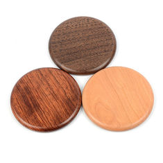 China Wood Qi Wireless Charging Pad For Phone , Customized promotional Gifts Qi Fast Charger supplier