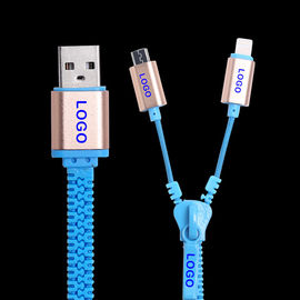 China Samsung  Iphone  Zipper USB Data Cable High Speed USB 2.0 Data Transfer Rates supplier