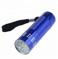 China Outdoor LED Emergency Flashlight Camping Lamp Customized Aluminum Mini Torch 9 LED supplier
