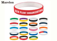 China Multi Color Wristband Custom Silicone Bracelet With Screen Printing Logo company