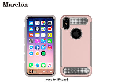 Carbon Fiber TPU Phone Case / PC Back Cover Case For Decoration Iphone 8
