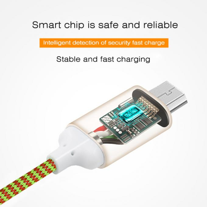 Fast charging USB Data Cable , Iphone Charging Cable 2.4A USB Phone cable