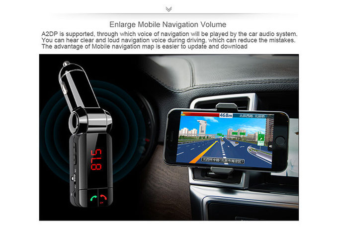 Dual USB Port Bluetooth Car Charger Digital Display For All Types Vehicles