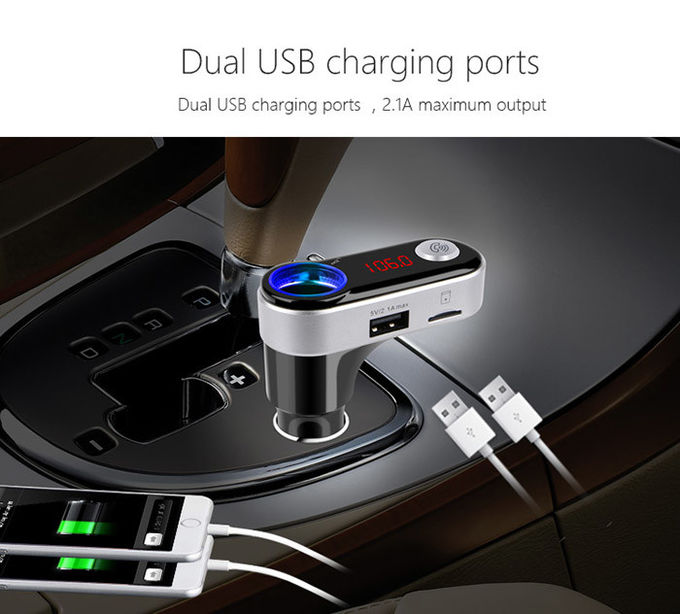 Independent Bluetooth USB Car Charger Car MP3 Player With FM  Transmitter