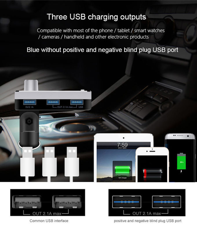 LED Display Screen Bluetooth Car Charger Adapter Micro SD