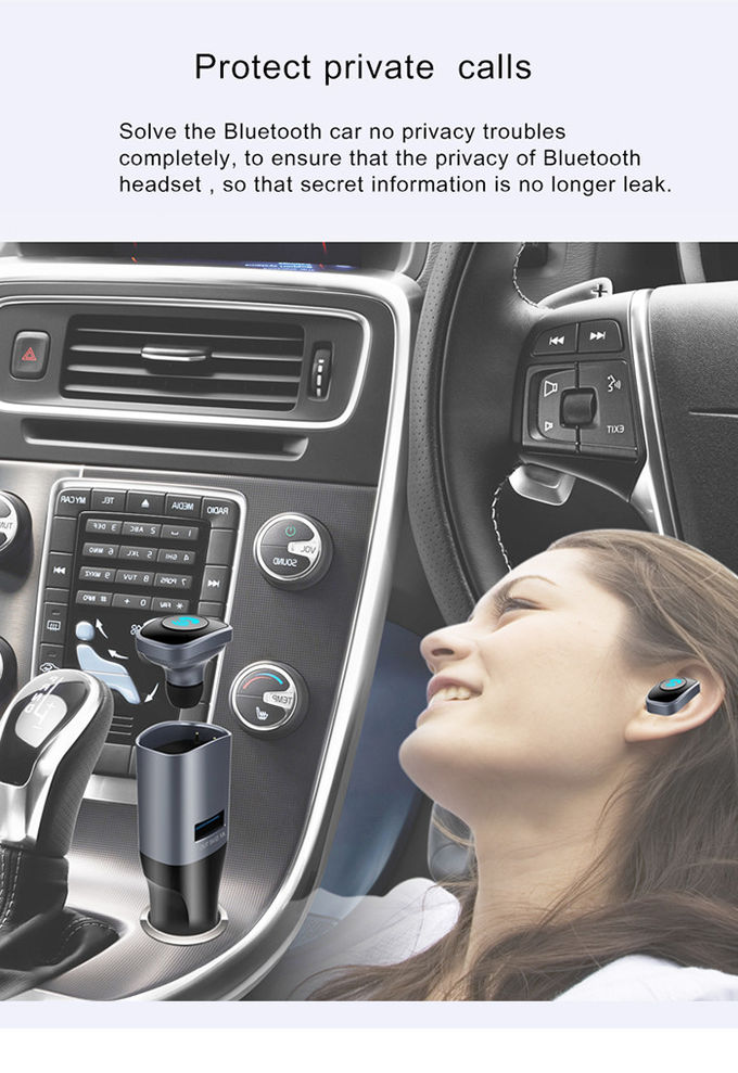 Smart Multi Hands Free Headset / Auto Bluetooth Adapter For Electronic Products Charging