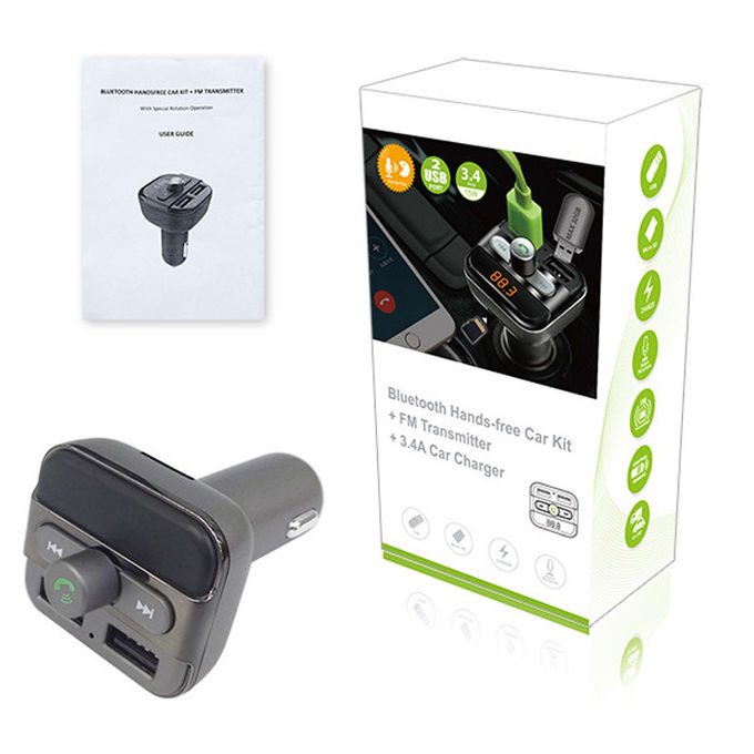 Built - In Microphone Bluetooth Car Charger Remote Controller Support TF Card Music