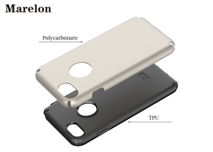 Soft TPU Hybrid Phone Cover Eco - Friendly 2 In 1 Hard Premium PC Material