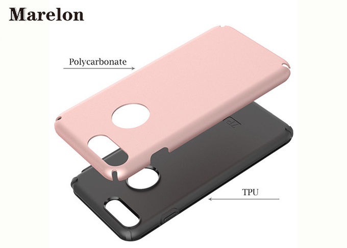 Dual Layer Slim TPU Phone Case Cover / 5.5 Inch Phone Case For Apple IPhone 7