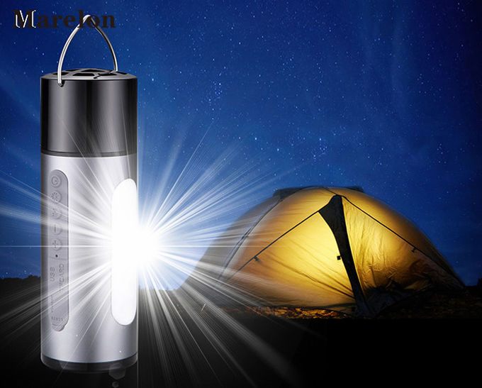 Outdoor Sports USB Power Bank Flashlight 5200mah With Wireless Bluetooth Speakers