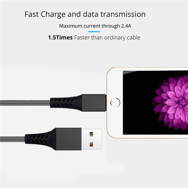 For Iphone 8/8plus Usb Cable Charger And Data Sync Usb Cable , White