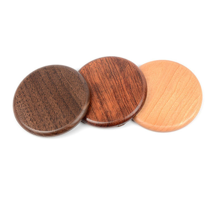 Wood Qi Wireless Charging Pad For Phone , Customized promotional Gifts Qi Fast Charger
