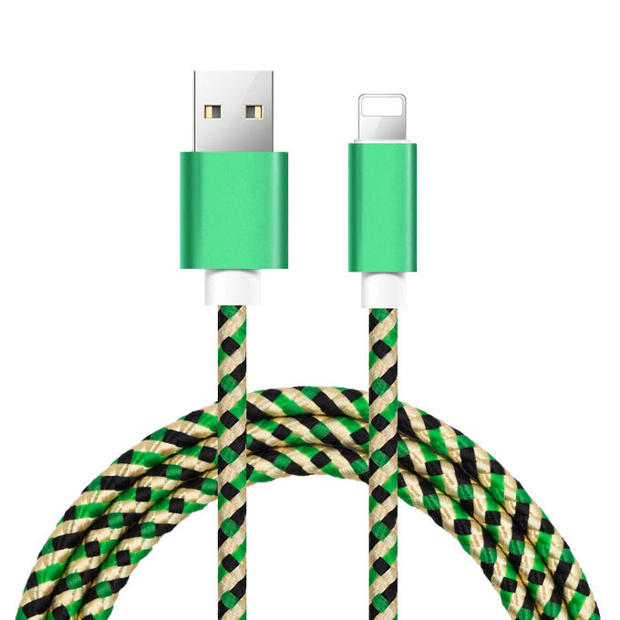 IPhone 8 / 8plus / X USB Data Cable With Camouflage Nylon Woven Braided